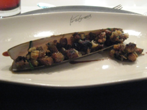 Keeper Collection - Razor Clams with Croutons at Can Fabes