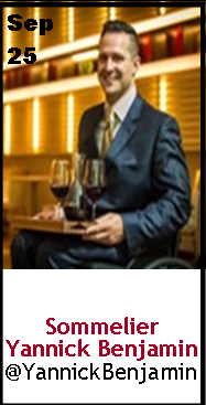 Keeper Collection #SommChat Guest #Advanced  Sommelier Yannick Benjamin