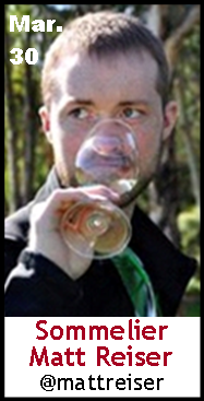 Keeper Collection #SommChat Guest #Sommelier MattReiser