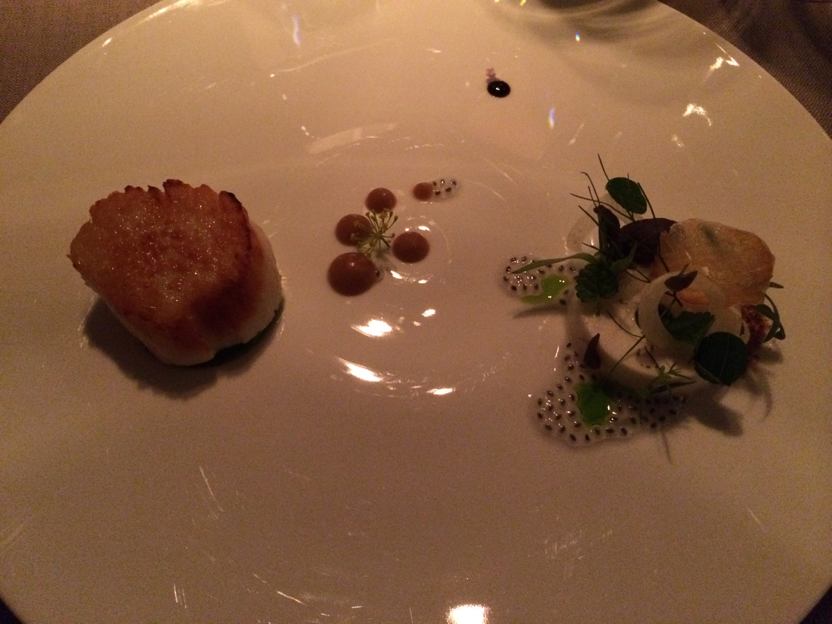 Keeper Collection: Scallop Dish at Grace Restaurant