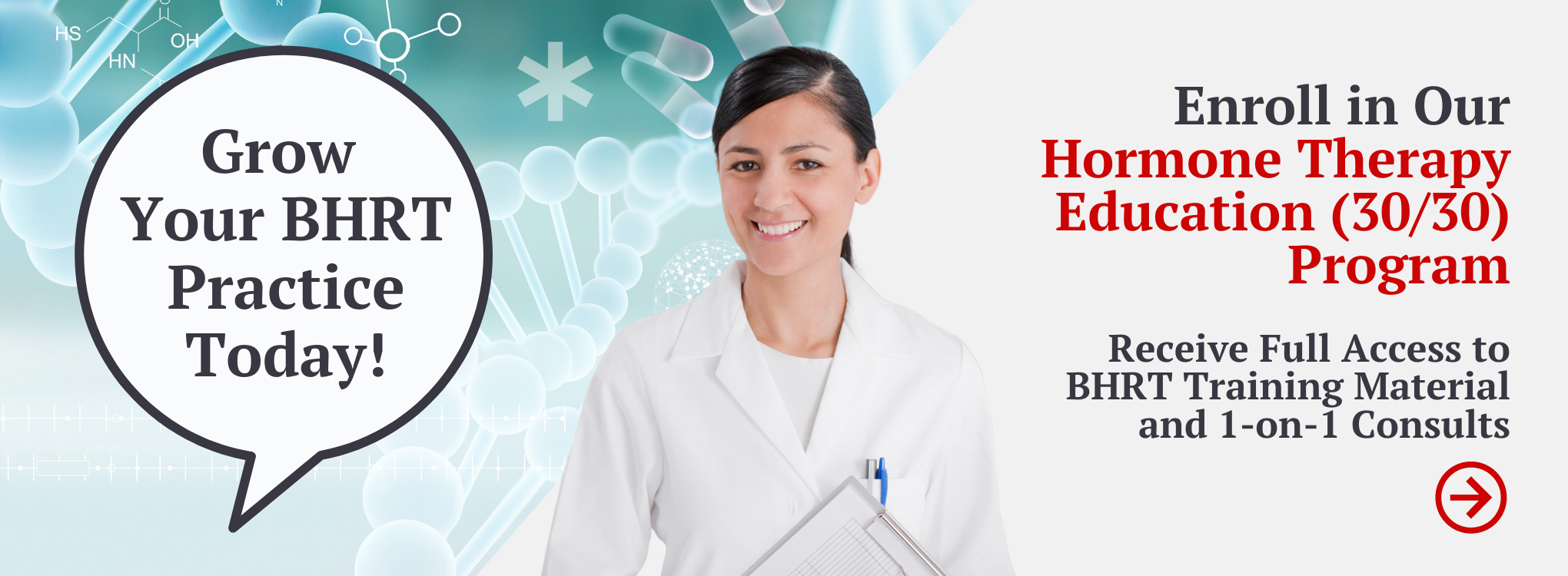 Enroll in our Hormone Therapy Education (30/30) Program