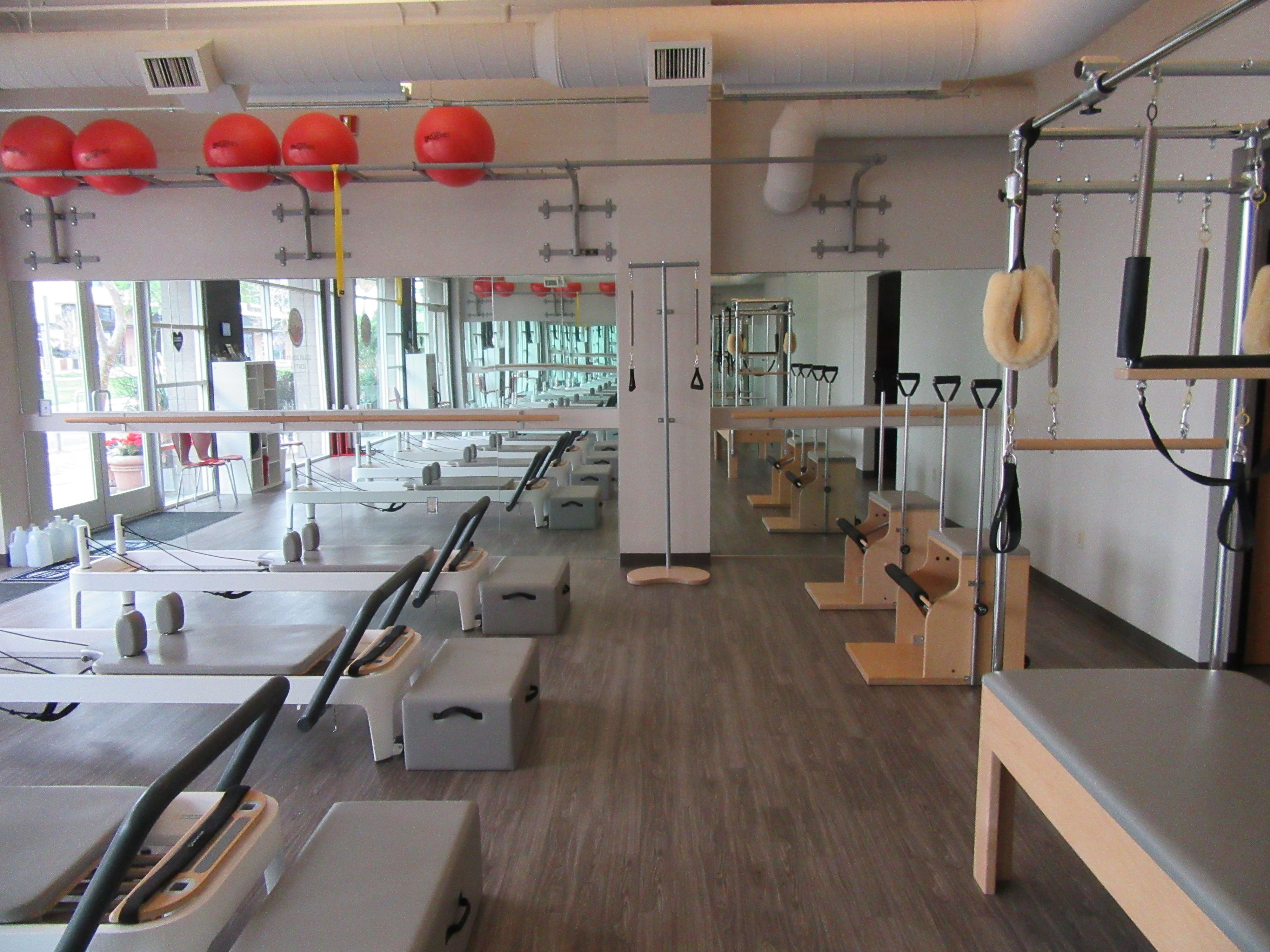 Bird Dog Pilates & Fitness Main Studio Space East Wall.