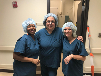 Happy Cleaning Crew at a medical facility in Novi, MI