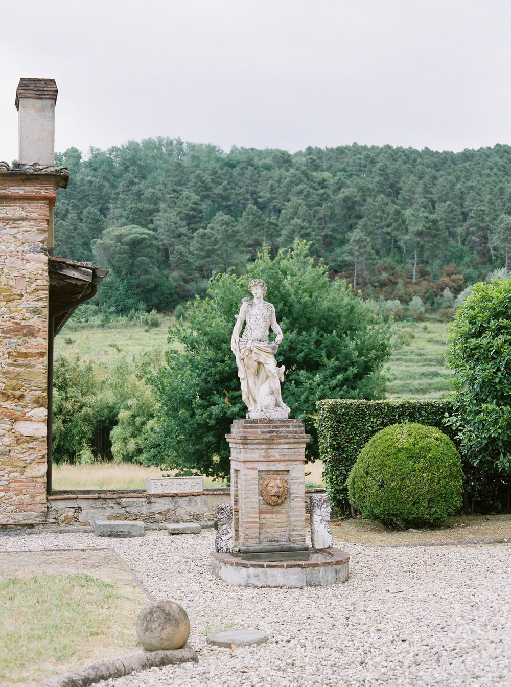 gardens surrounding the villa
