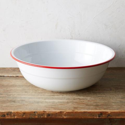 enamel serving bowl