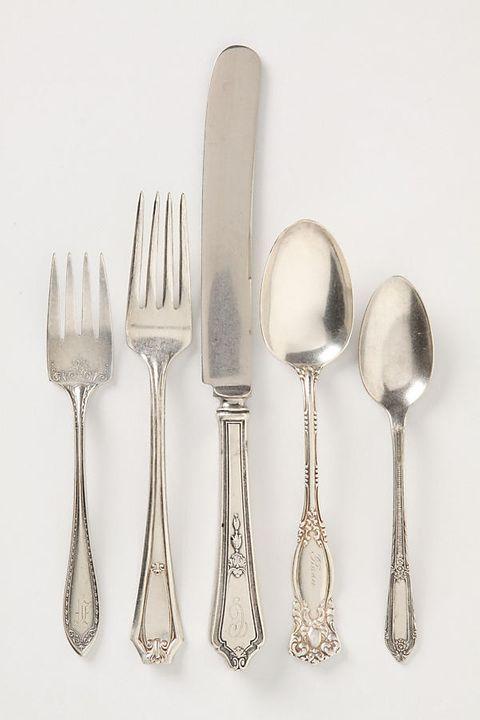 vintage silver flatware