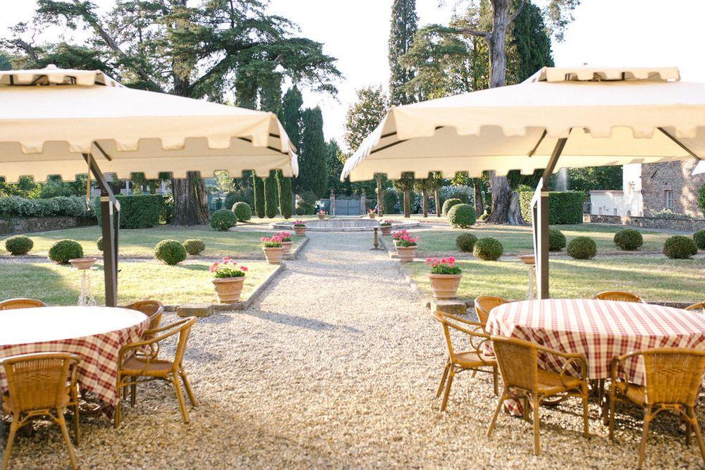 gardens around the villa
