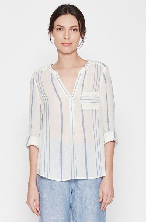 striped linen blouse