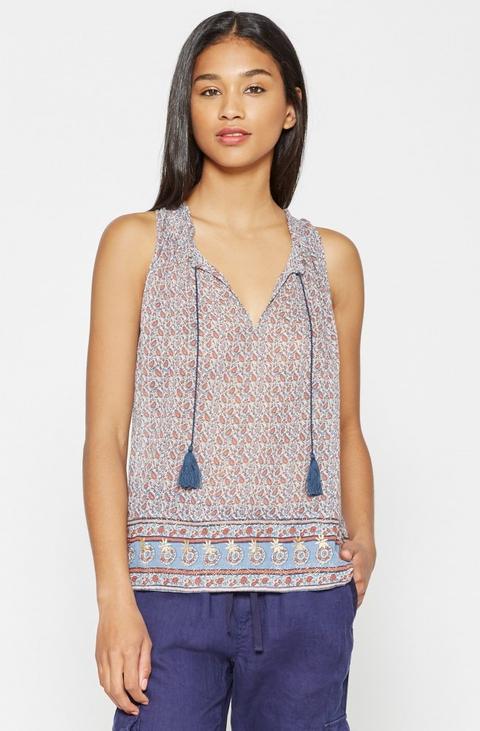 paisley cotton blouse