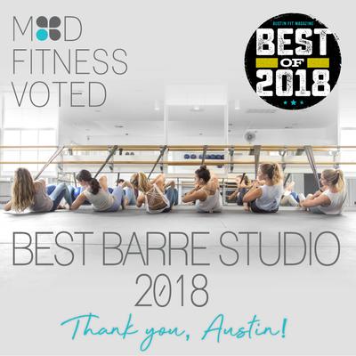 VOTED 2018 BEST BARRE STUDIO IN ATX