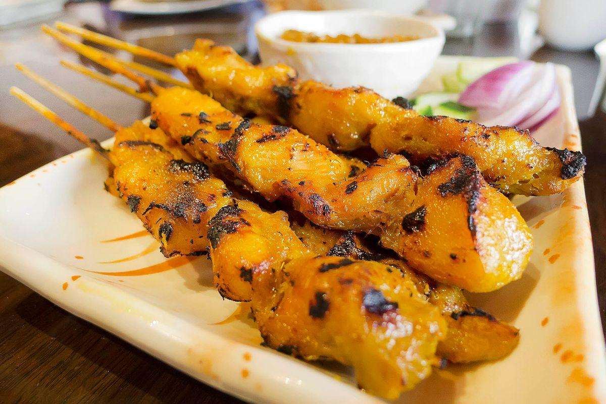 Chicken Satay Menu Photography