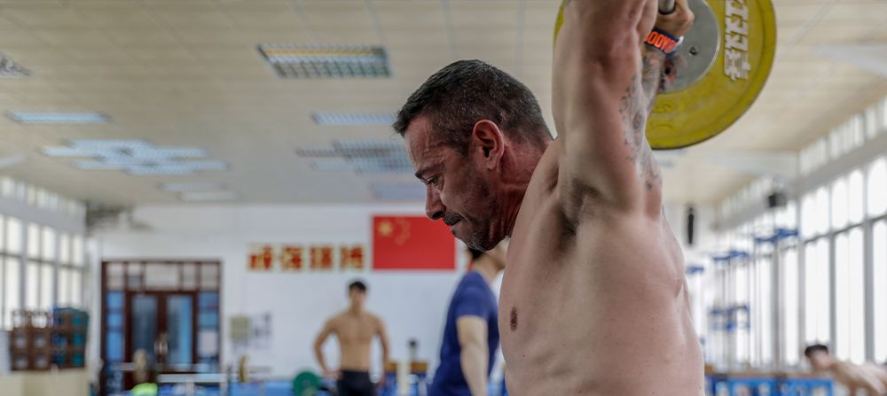 Chinese weightlifting camp