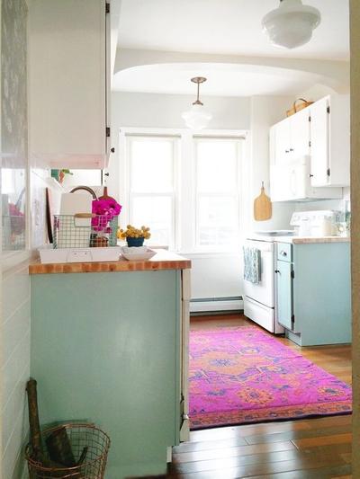 hot pink carpet kitchen.jpg