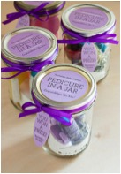 Pedicure in a Jar Favor