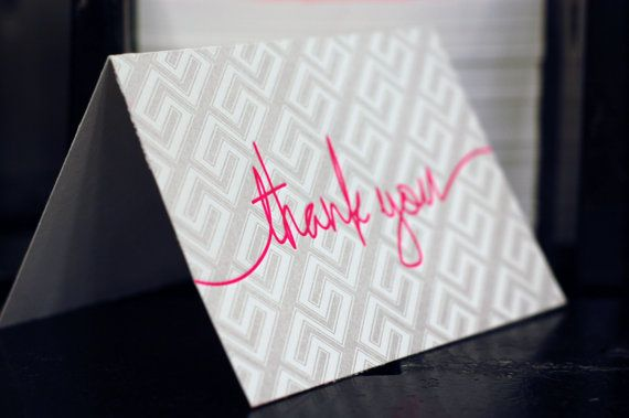 Letterpress Thank You Note