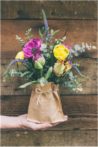Paper Bag Floral Arrangement