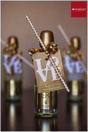Mini Champagne Bottle Favors