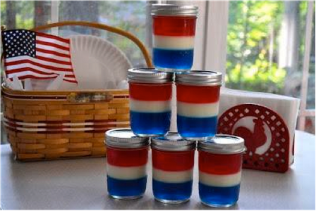 Red White and Blue Jello Jars