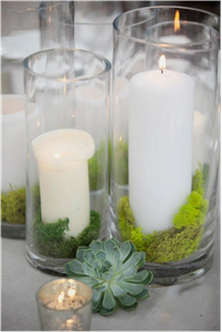 Mixing Greenery and Candlelight