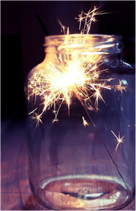 Sparklers in a Jar