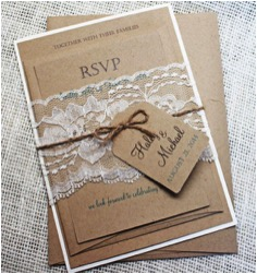 Tag Tied on Invitation