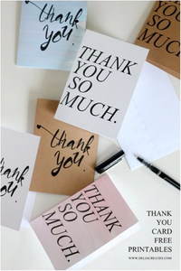 Bold Thank You Notes