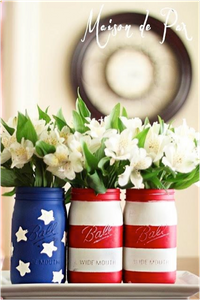 Star Spangled Mason Jars