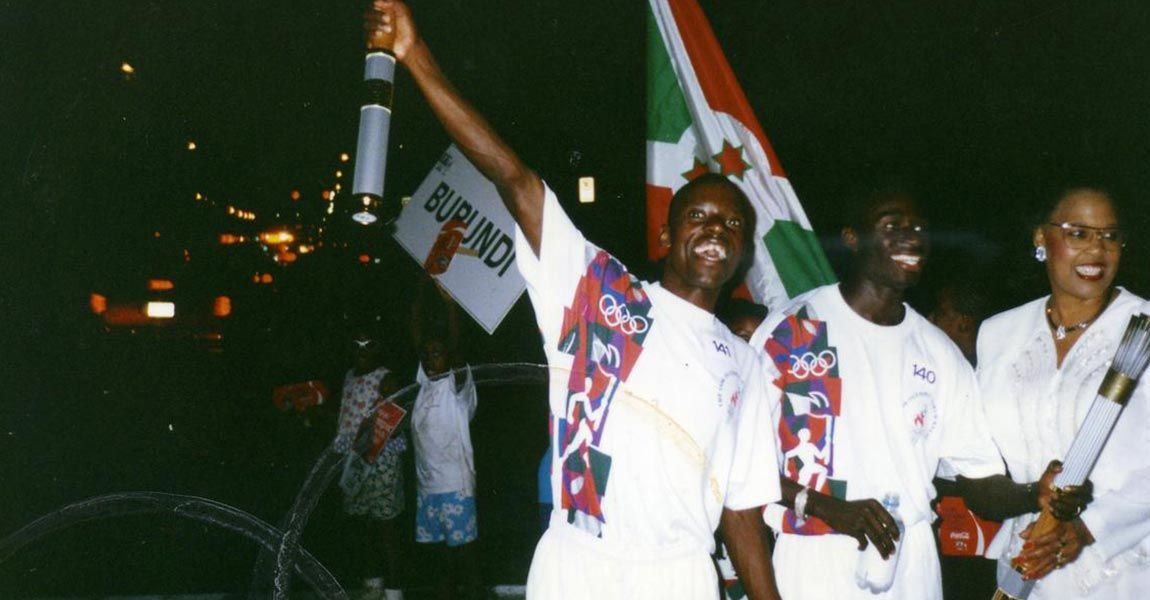 Gilbert Tuhabonye with Burundi Olympians