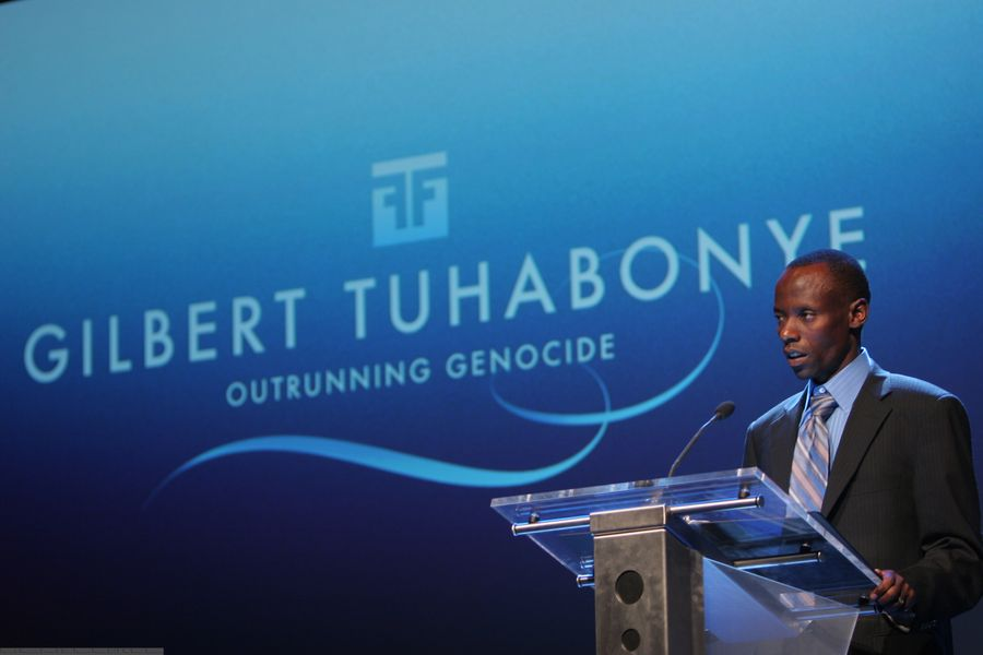 Gilbert Tuhabonye as a keynote speaker at Oslo Freedom Forum