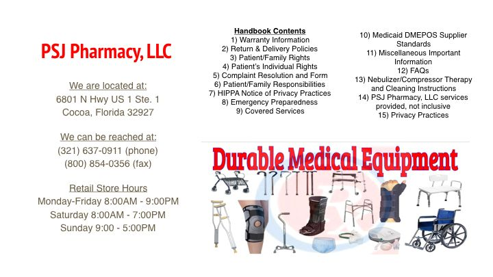 Durable Medical Equipment - Port St John Discount Pharmacy