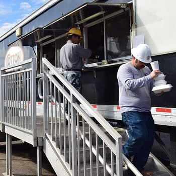 Remote worksite catering