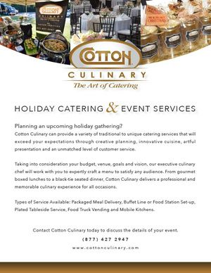 Holiday & Event Catering