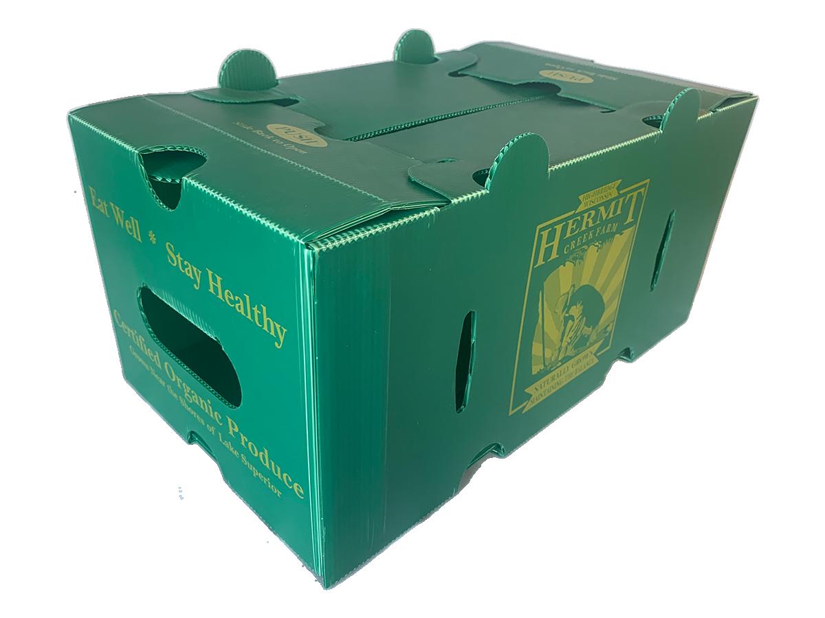 1/2 Bushel Corrugated  Plastic Crop Boxes