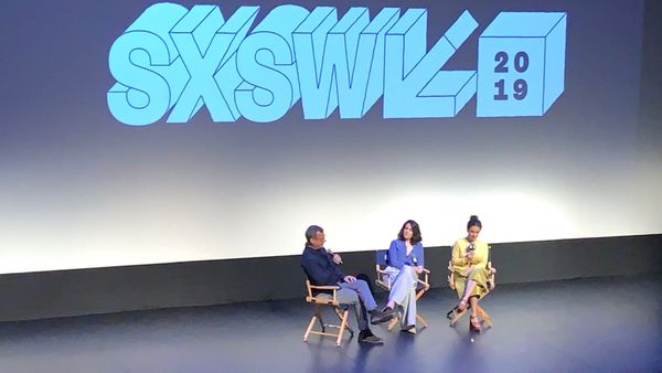 Abbi and Ilana from Broad City on stage at SXSW