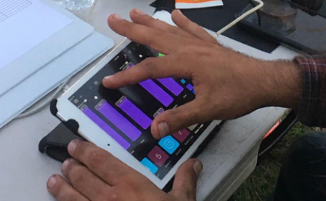 Lighting Tech controlling event lighting through iPad control system