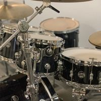 Close up of DW Drum Kit