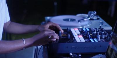 DJ Spinning at an Austin Event