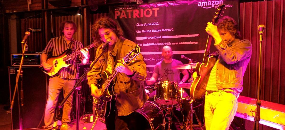 Band playing at Amazon event at SXSW in Austin, Texas