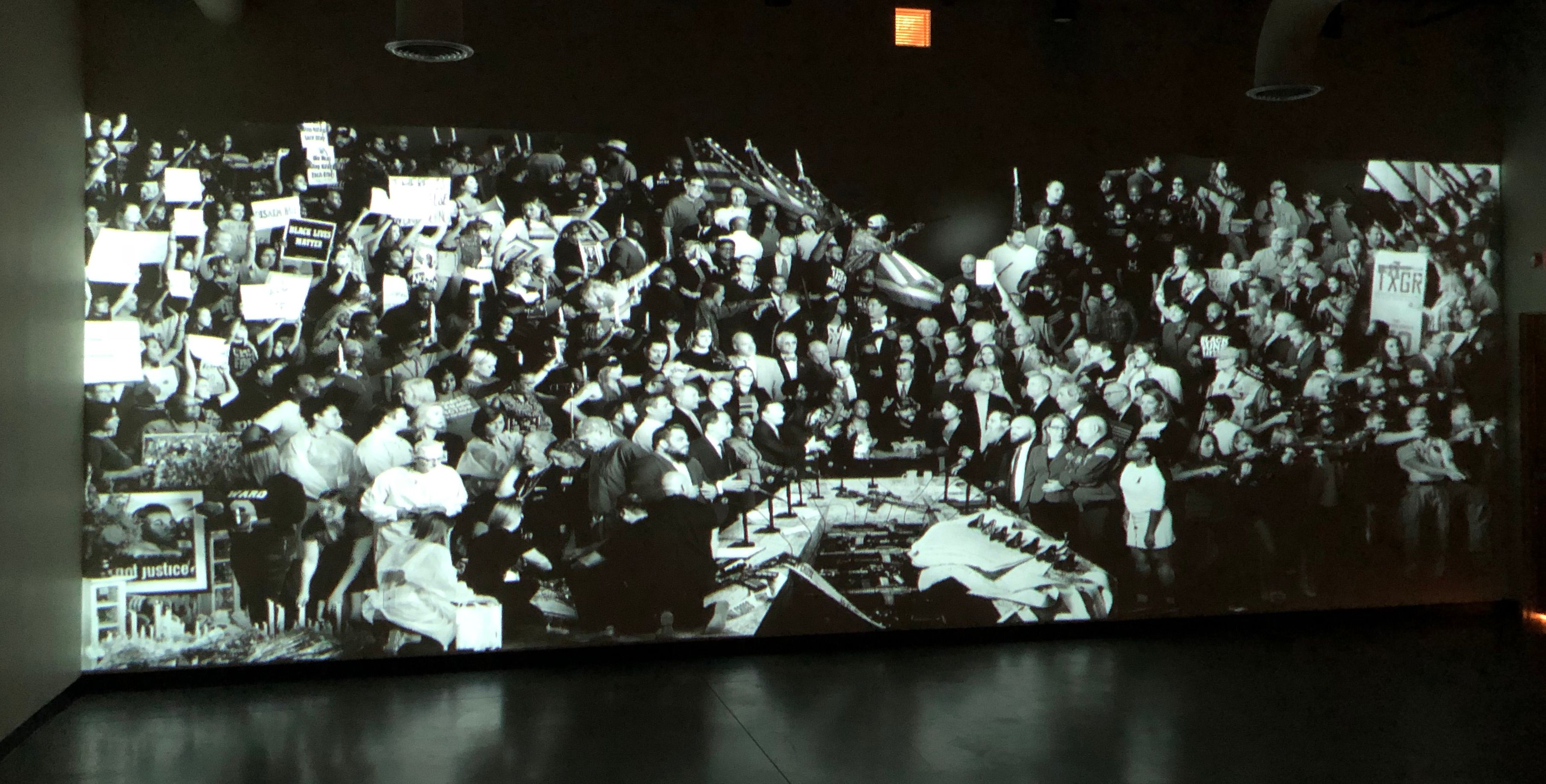 Large Projection Screen Display at Art Exhibit
