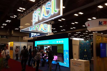Brasil booth in Austin Convention Center at SXSW