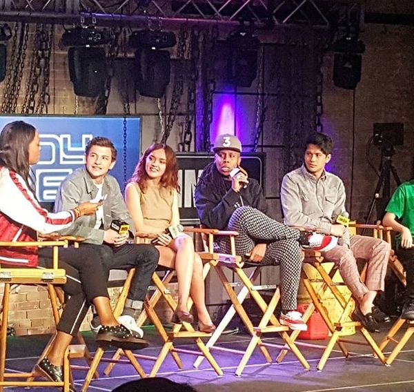 Panel of the cast of Ready Player One