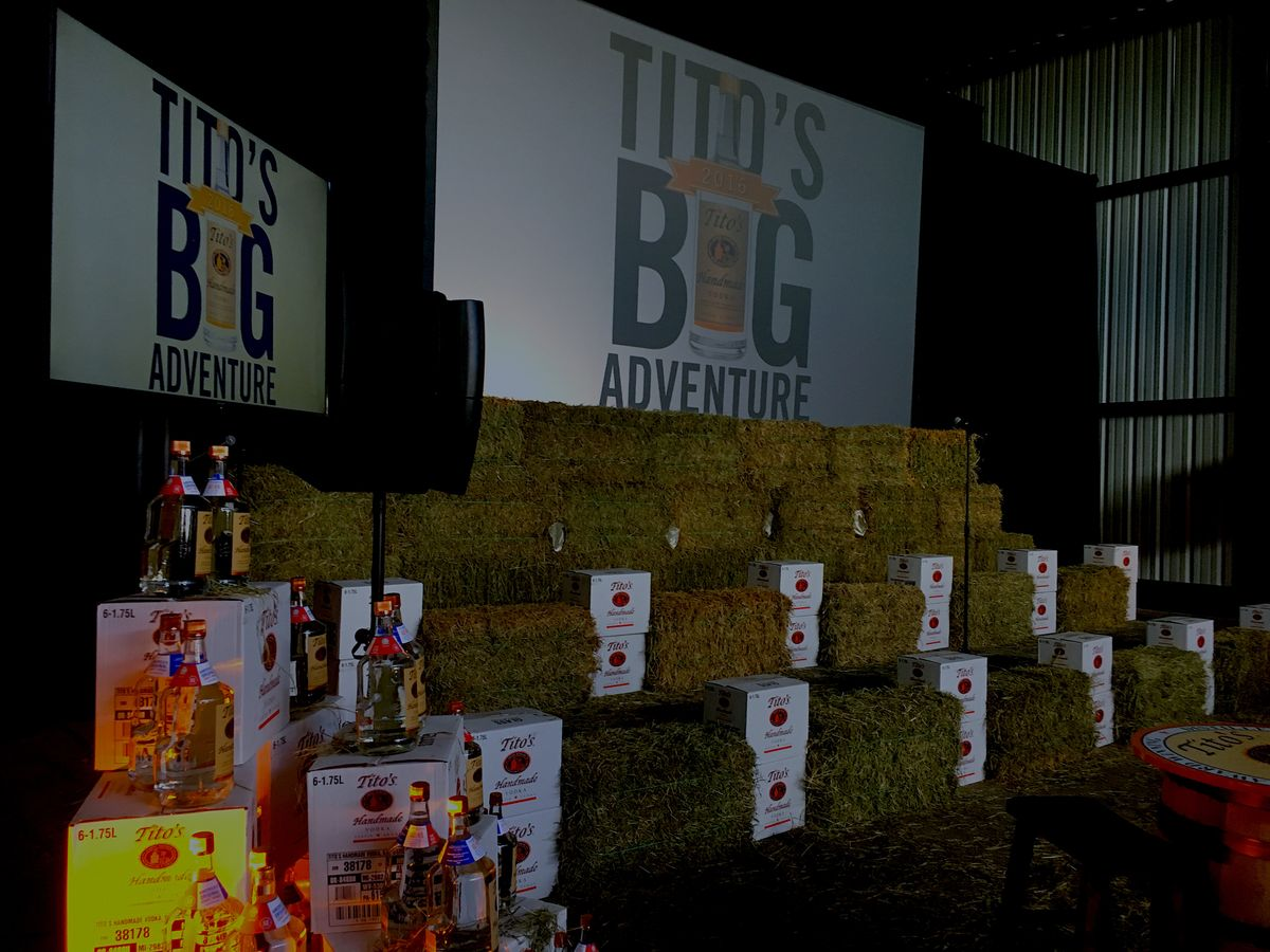 Tito's Big Adventure Holiday Party Layout ATX