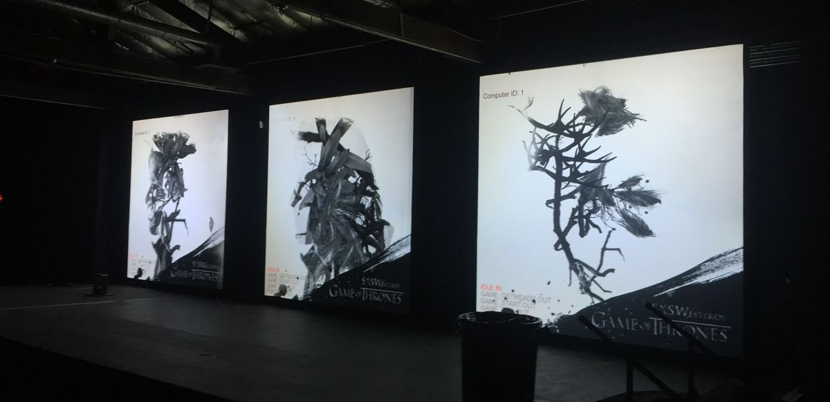 Game of Thrones three-screen display