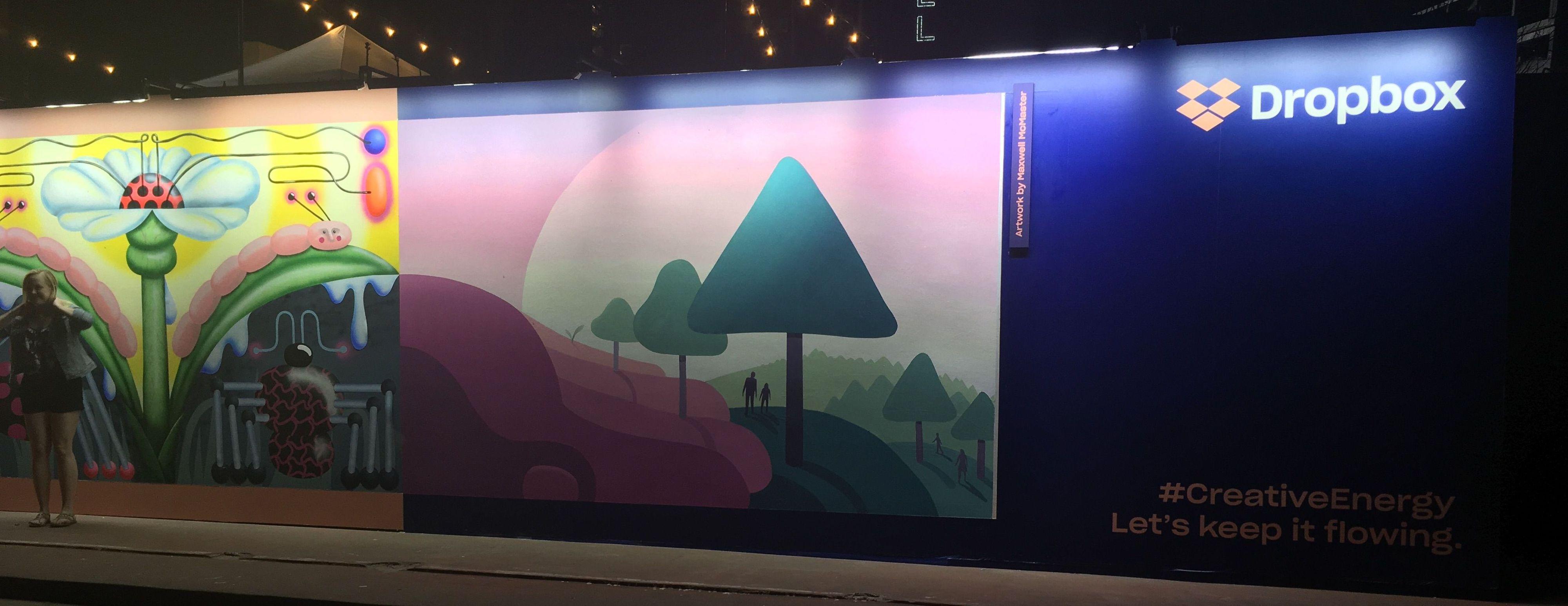 Dropbox Mural at SXSW