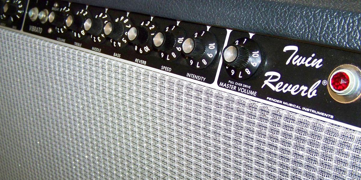 Close up of Fender Amp