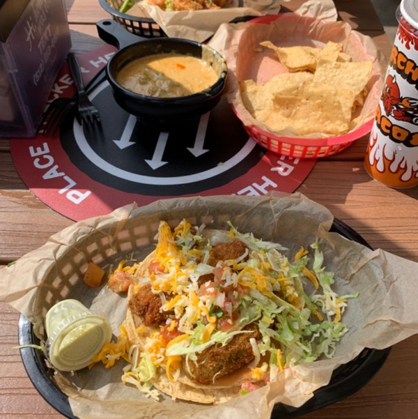Torchy Taco's taco and quest dip