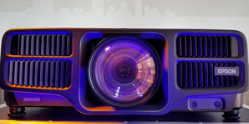 Close up of Epson Pro Laser Projector.
