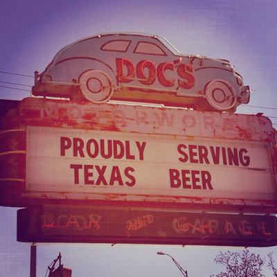Doc's Proudly Serving Texas Beer