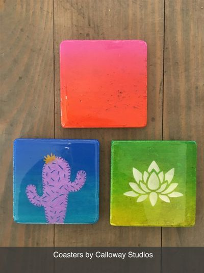 Local Austin artists coasters by Calloway Studios
