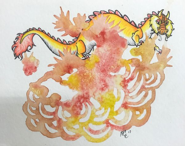 Local Austin artist Golden Dragon by Holly Edwards.jpg